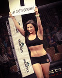 MMA Round Card Girl Stock Images