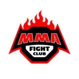 MMA-strijdclub, embleem Stock Afbeeldingen