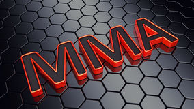 MMA. Text on dark hexagonal background , Mixed martial arts event Royalty Free Stock Image
