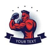 MMA-Vechter Logo Design Template Vector Illustration Royalty-vrije Stock Foto's