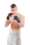 MMA-vechter op witte achtergrond Royalty-vrije Stock Foto's