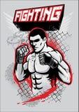 MMA-vechtersontwerp royalty-vrije illustratie