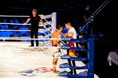MMA walki bez reguł. Agonia Romero, Hiszpania Kula i Rinat? tumanov, Rosja Obraz Stock