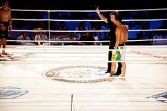 MMA walki bez reguł. Agonia Romero, Hiszpania Kula i Rinat? tumanov, Rosja Zdjęcie Stock