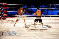 MMA walki bez reguł. Agonia Romero, Hiszpania Kula i Rinat? tumanov, Rosja Zdjęcia Royalty Free