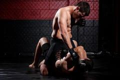 MMA wojownik dominuje dopasowanie zdjęcie royalty free