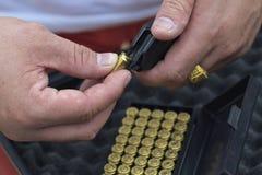 9 mmammunitionar Arkivfoton
