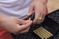 9 mmammunitionar Royaltyfria Bilder