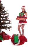 Mme Claus de l'aide de Santa image libre de droits