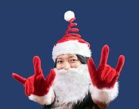 mme Claus montre le geste des klaxons Images stock