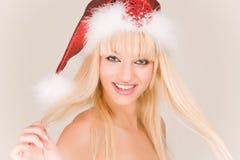Mme riante Santa Photos stock