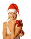 Mme Santa avec la décoration Image stock