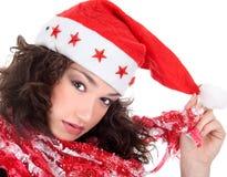 Mme Santa venant bientôt Photographie stock libre de droits
