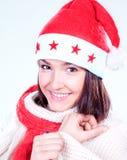 Mme Santa venant bientôt Images libres de droits