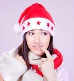 Mme Santa venant bientôt Image libre de droits