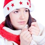 Mme Santa venant bientôt Image stock