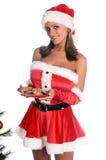 Mme sexy Santa image stock