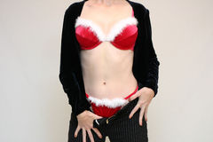Mme sexy Santa Photo libre de droits