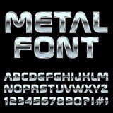 Mmetal style letters and symbols . Stock Image