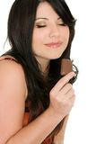 Mmm chocolate um aphrodisiac Imagem de Stock
