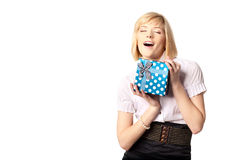 Mmm, I love presents!=) Royalty Free Stock Photography