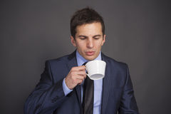 Mmmm... that's some good coffee. Royalty Free Stock Photos