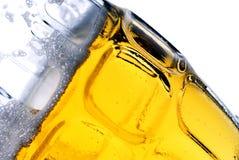 Mmmmm Beer. Closeup of beer in a beer mug royalty free stock photography
