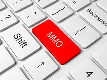 MMO button on keyboard Stock Images