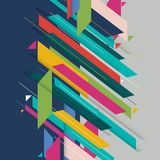Mmodern diagonal shape abstract background geometric element. Multicolor lines and triangles elements. Vector graphic illustration Stock Image