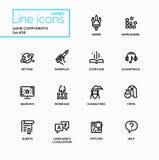 MMOG - modern vector single line icons set Stock Images