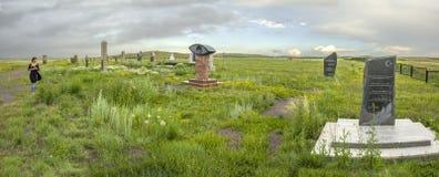 Mémorial aux prisonniers de KarLang dans Spassky Images stock
