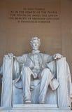 Mémorial d'Abraham Lincoln Photographie stock libre de droits