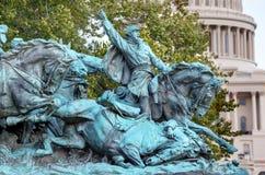 Mémorial de guerre civile de statue des USA Grant de charge de calvaire Capitol Hill W Image stock