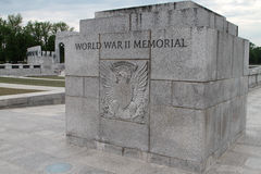 Mémorial de la deuxième guerre mondiale dans le Washington DC Photos libres de droits