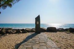 Mémorial de tsunami, Hikkaduwa, Sri Lanka - 10 février 2017 Photo stock