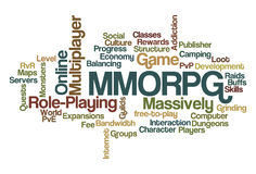 MMORPG - Massively Multiplayer Online Role-Playing Royalty Free Stock Photo