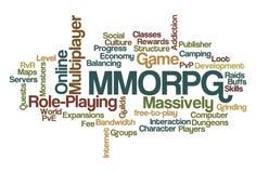 MMORPG - Role-Playing em linha maciça para múltiplos jogadores ilustração stock