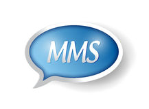 Mms message bubble illustration design Stock Photos