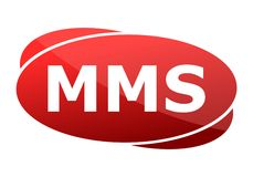 MMS red sign Stock Photos