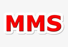 MMS Red Sign. Simple vector illustration Royalty Free Stock Photography