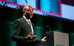 Mmusi Maimane de leider van DA Democratisch Alliance royalty-vrije stock fotografie