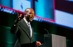 Mmusi Maimane de leider van DA Democratisch Alliance royalty-vrije stock afbeelding