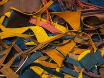 Mnóstwo kawałki kolorowa skóra zdjęcia stock