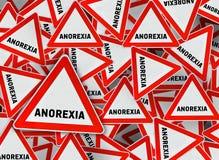Mnóstwo anorexia trójboka drogowy znak Royalty Ilustracja