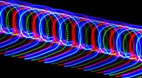 Mnóstwo barwioni nines, pisać światłem c i punkty obraz stock