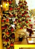 Mnóstwo boże narodzenie ornamenty obrazy stock