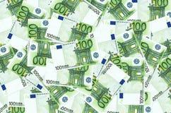 Mnóstwo euro Zdjęcia Royalty Free