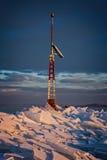 Mnóstwo iceblocks na each inny w Jeziornym Balaton Obraz Stock
