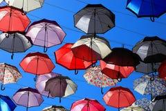 Mnóstwo kolorowi parasole fotografia royalty free