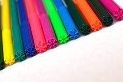 Mnóstwo kolorowi pióra Fotografia Stock